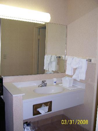 Howard Johnson Inn Virginia Beach: The bathroom area