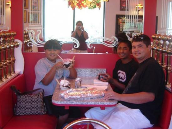 Canonsburg, PA: CJ, Jace and Jeremy Having some Treats Sarris's Chocolate Factory