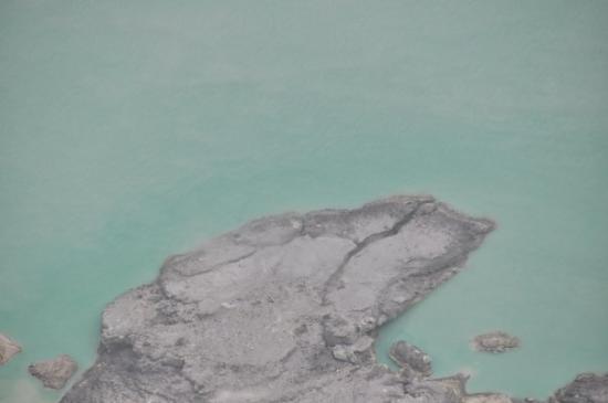 โปรโบลิงโก , อินโดนีเซีย: Le plus grand lac d'acide au monde, dommage que les nuages et la brume furent également de la pa