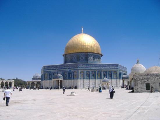 Cúpula de la Roca (al-Haram al-Sharif): This is the Dome of the Rock.  Muslim's Holyiest site