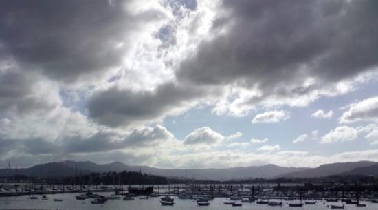 Baiona, สเปน: View of Bayona dock, Spain