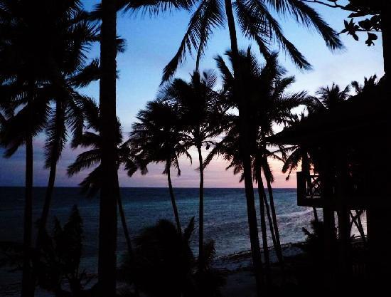 Anda White Beach Resort: Sunset from pool deck.