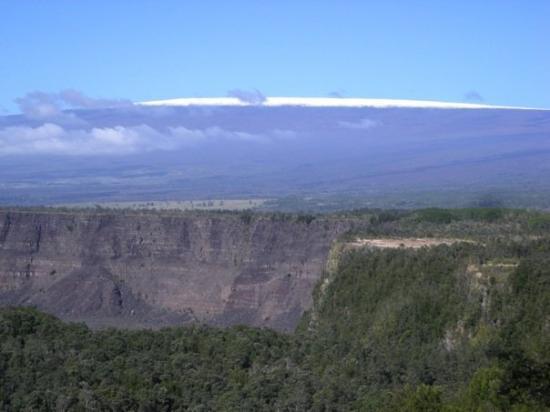 Kilauea Caldera With Mauna Loa In The Background Yes
