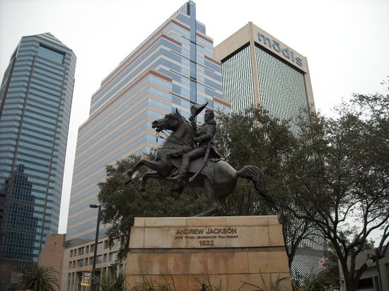 Jacksonville, Floride : Statue of Andrew Jackson.