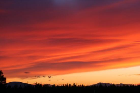 La Pine, OR: Sunset at LaPine, Or 10-08