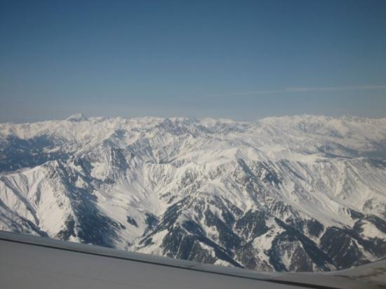 Yeni Delhi, Hindistan: Himalayan Mountains Planeview