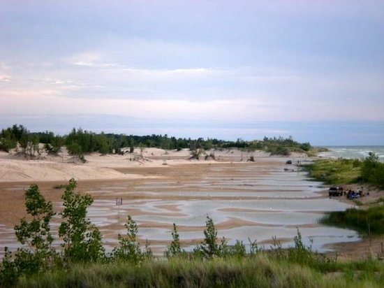 Mears, MI: Sand dunes by the beach