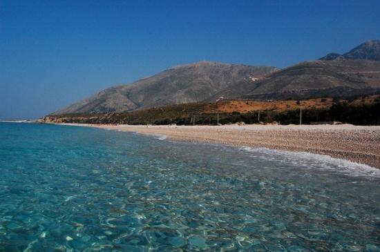 Dhermiu, Albania: Beach at Drimadhes, Dhermi