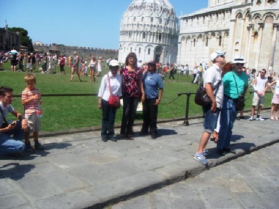 Ancient Rome: At the Leaning Tower of Pisa