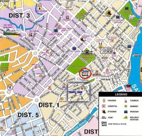 A Map Of Hcmc Mainly Cover District 1 Circled Is Where