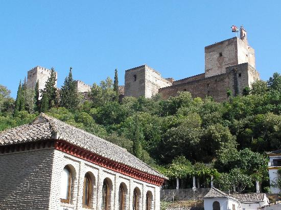 Carmen Del Cobertizo: View of Alhambra from rooftop terrace