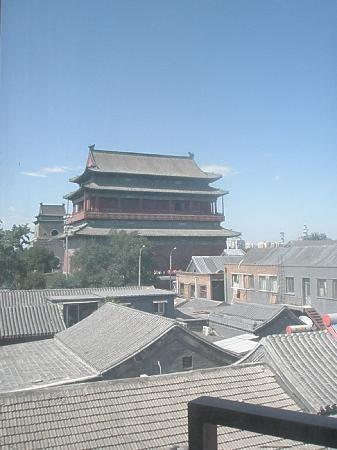 Xinyuan Inn: View of Drum Tower from our room