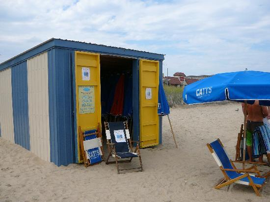 Pantai Rehoboth, DE: Rehoboth Beach Chair/Umbrella Rental Stands