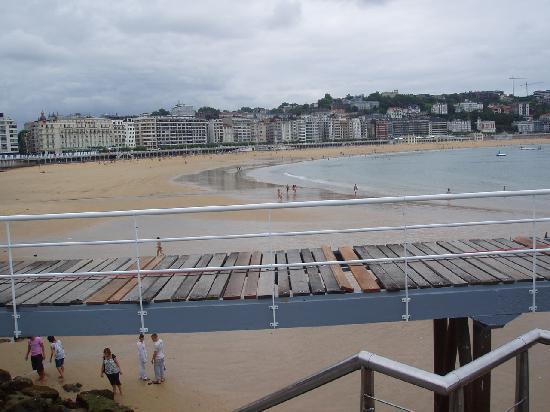 Pension Alameda: Vista de la playa