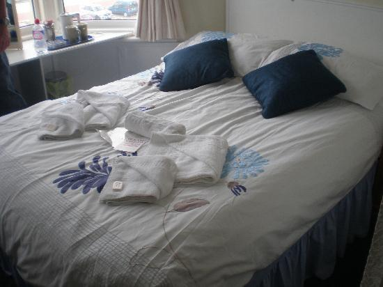 The Morecambe Bay Hotel: our bed very well made up
