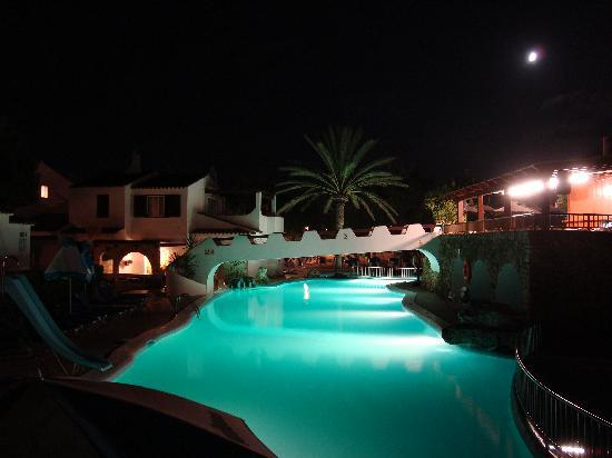 Talayot: main pool at night