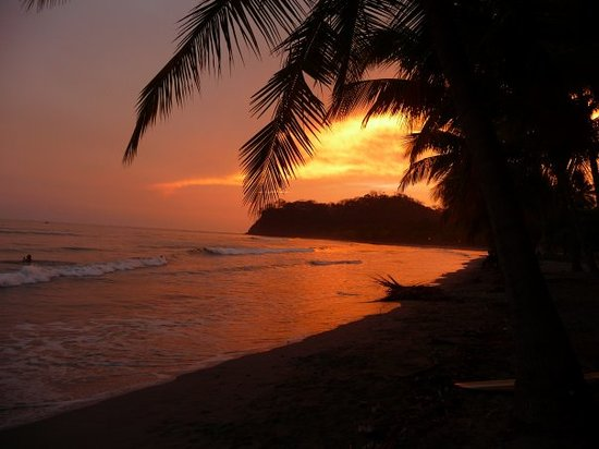 Playa Samara, Kosta Rika: Sonnenuntergang in Samara