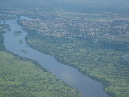 Flying into Juba, the capital of Southern Sudan, on the banks of the Nile.