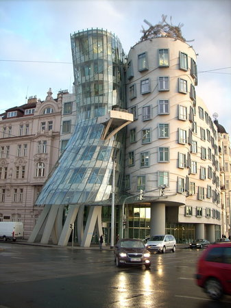 Dancing House: Ginger on the left, Fred on the right