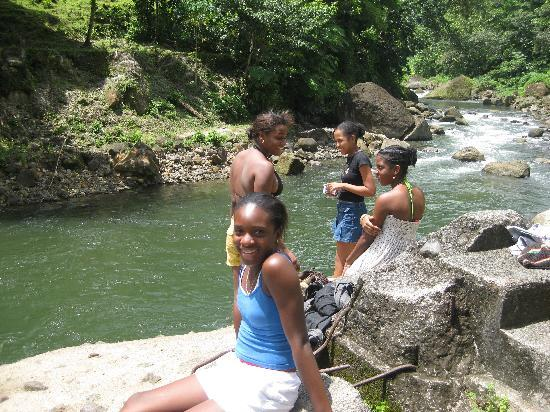 Kids at layou river