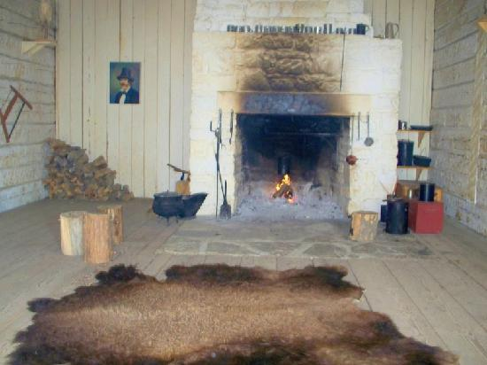 Fort Union Trading Post: Original fireplace