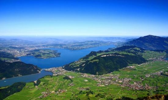 Lake Luzern: Vierwaldstättersee vom Stanserhorn us gseh
