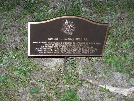 Buck Cemetery Bucksport Tripadvisor
