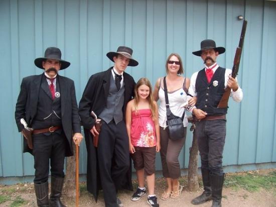 O.K. Corral: Virgil, Morgan, Amy, Me, and Wyatt Earp!!!