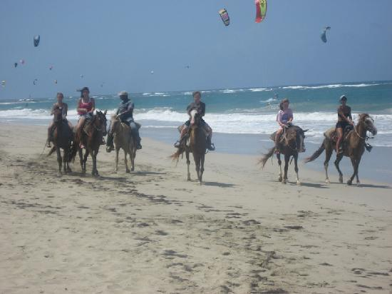 Cabarete Beach House at Nanny Estates: Beach riding