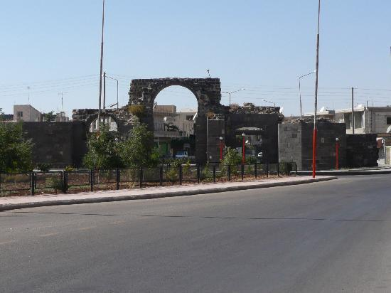 Shahba City: One of the ancient Roman gates still guarding the entrance to the city
