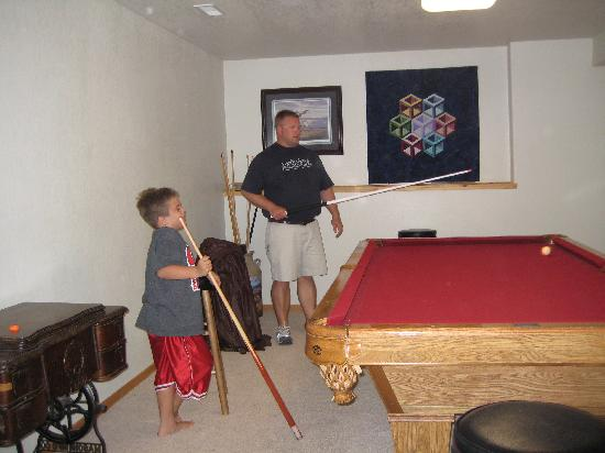 High Country Guest Ranch: Hagan Cabib Pool Table