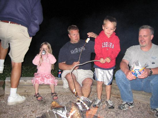 High Country Guest Ranch: S'Mores at Campfire