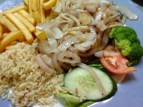 Kipos: steak and onions mmmm