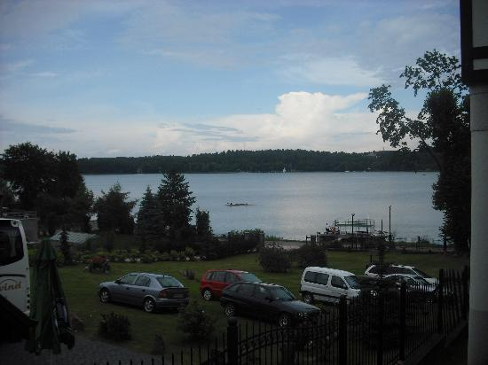 Mragowo, Polen: view to the lake side