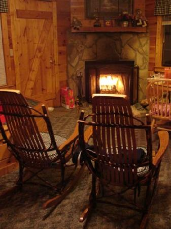 High Valley Rentals: the fireplace
