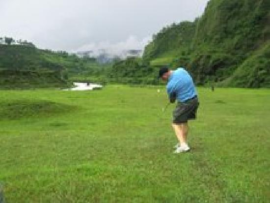 Himalayan Golf Course: Going For the Green (Cow Fence Around it)