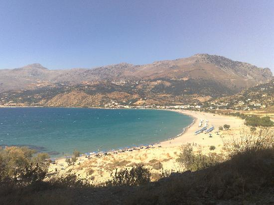 Costas & Chrysoula: View from the cliff-side at the eastern end of the bay