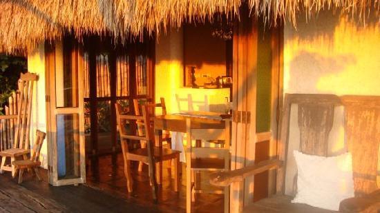 Boracay Private Mt. Casitas Villa: breakfast table at sunrise