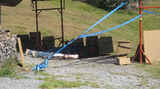 Les Rosalys : Rifle shooting contest, above Les Paccots, August, 2009