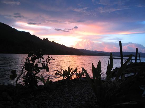 Malaita Island, Salomonen: Lau Lagoon sunset, Malaita (1)