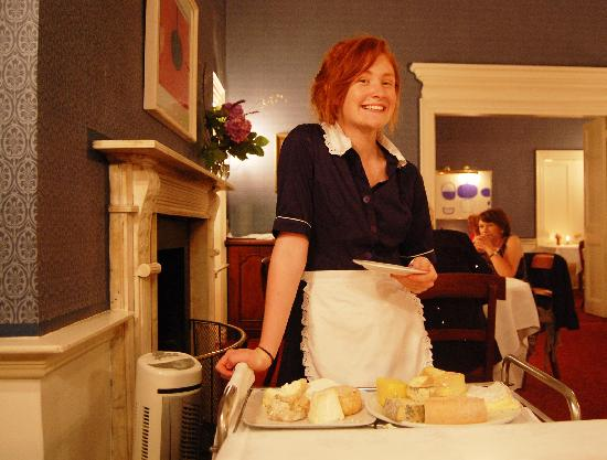 Shanagarry, Ireland: lovely server with cheese cart