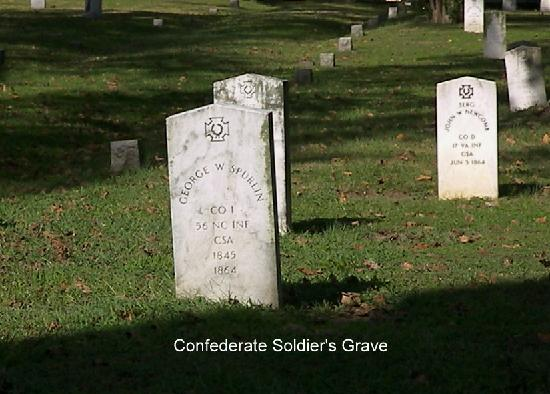 Hollywood Cemetery : Confederate Soldier's Grave Site