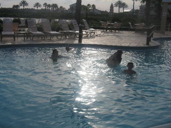 Cinnamon Beach at Ocean Hammock Beach Resort: swimming at sunset!