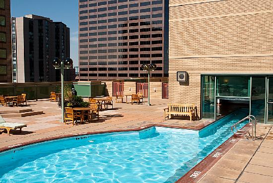 rooftop pool and deck picture of the westin denver. Black Bedroom Furniture Sets. Home Design Ideas