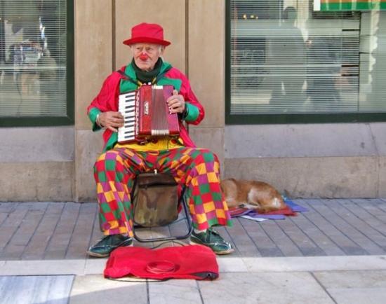 Clown Street Performer In M 225 Laga Picture Of Malaga