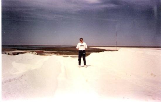 Guerrero Negro, Mexico Sobre una montana de sal