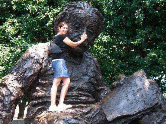 Albert Einstein Memorial: Me rubbing Einstein's nose for knowledge