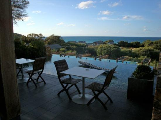 Margaret River, Australie : time for a rest after lunch... the view from the hotel terrace