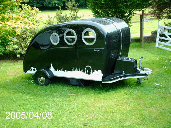 Williton, UK: the pod caravan
