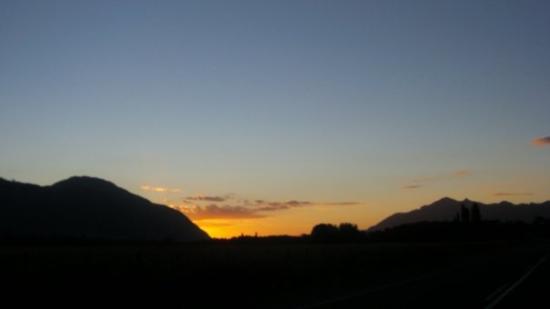 Atardecer espectacular de regreso a Temuco